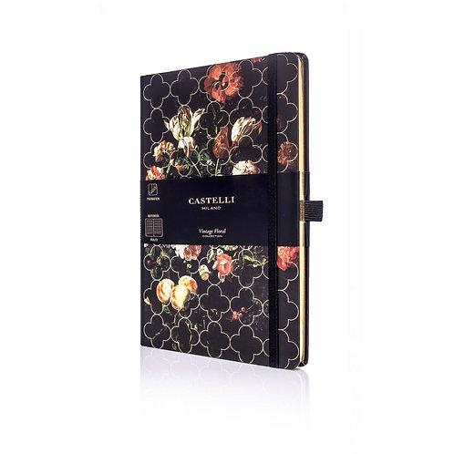 Castelli Vintage Floral A5 Medium Ruled Notebook