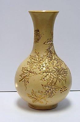 Rookwood Ivory/Gold Vase, 1882