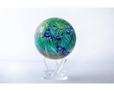 "MOVA 4.5"" Van Gogh Irises Rotating Globe"