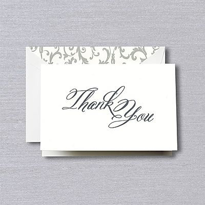 Crane Script Thank You Notes with Envelopes