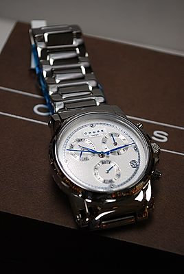 Cross Milan Chronograph Stainless Steel Wristwatch
