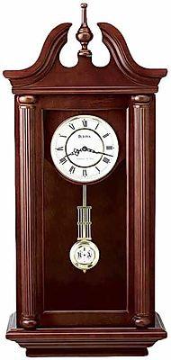 Bulova Manchester Key Wind Wall Clock w/Chime