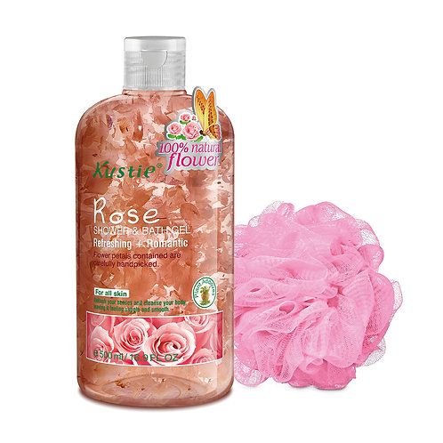 Kustie Rose Shower & Bath Gel 500ml