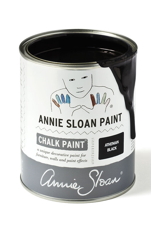 1 Litre of Athenian Black Chalk Paint® by Annie Sloan