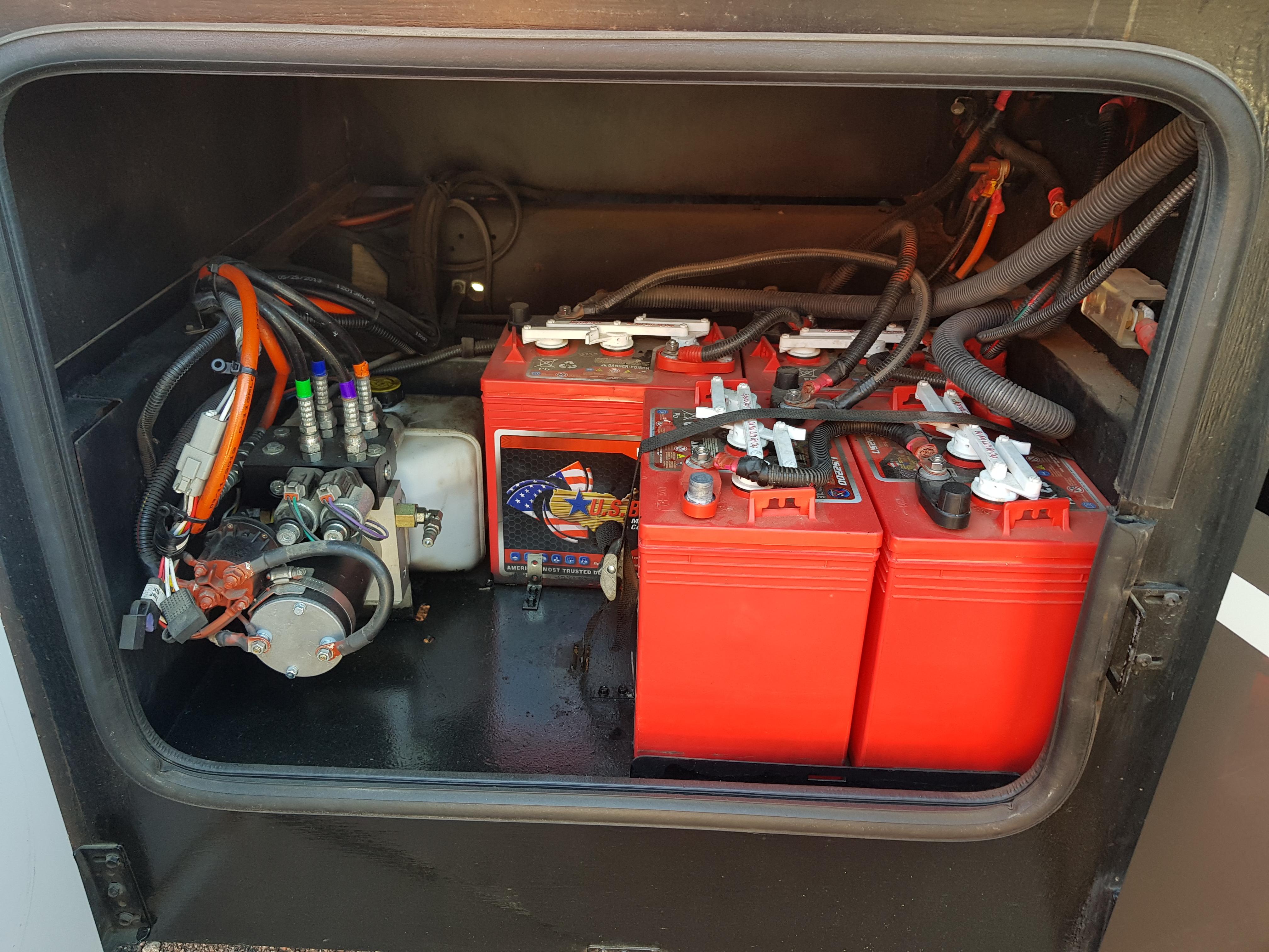 Batteripacken-Hydraulpumpen.