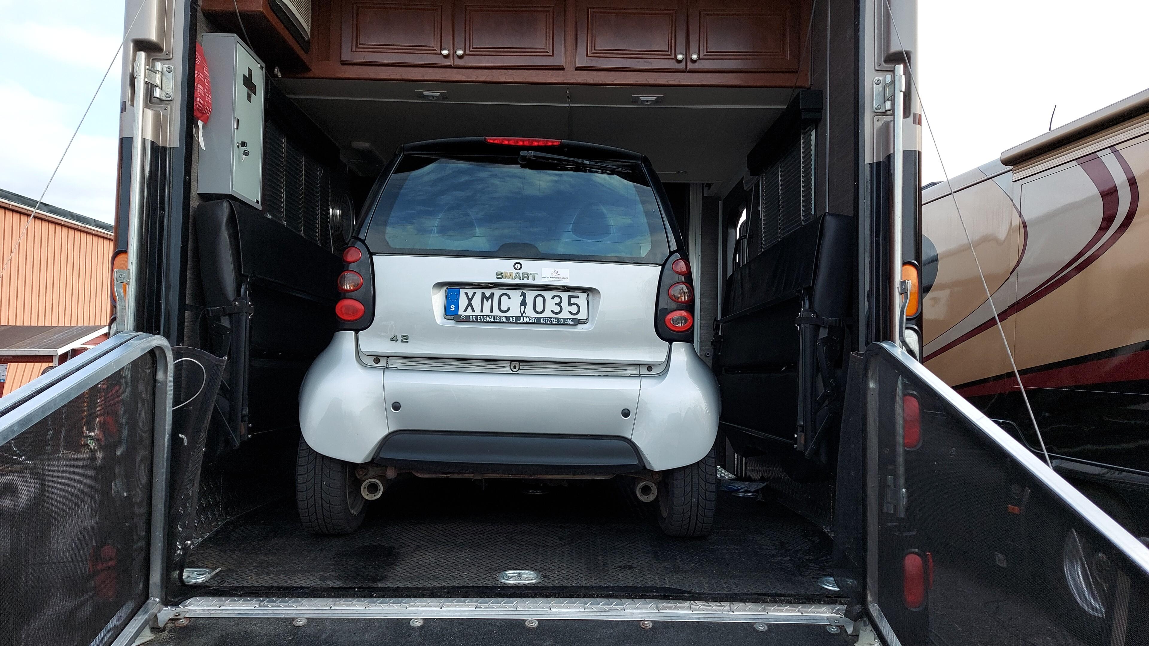 Smart parkerad i Garaget.