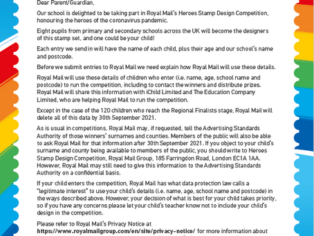 Heroes Letter for Parents