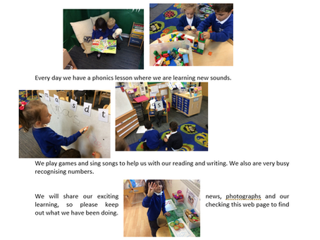 What we are up to in Reception