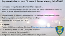 Raytown Police to Host Citizen's Police Academy, Fall of 2015