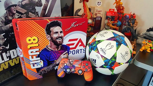 SKIN PS4 FAT FIFA 18 SIGNATURE EDITION MESSI