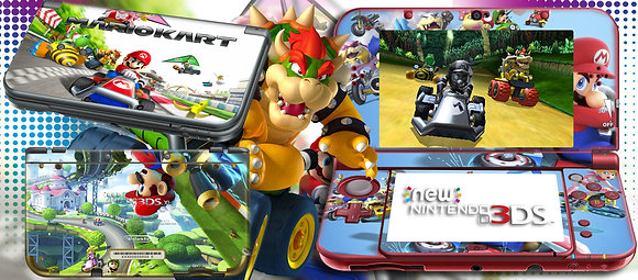SKIN NEW 3DS XL MARIO KART