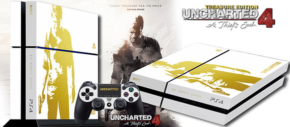 SKIN PS4 UNCHARTED 4 GOLD