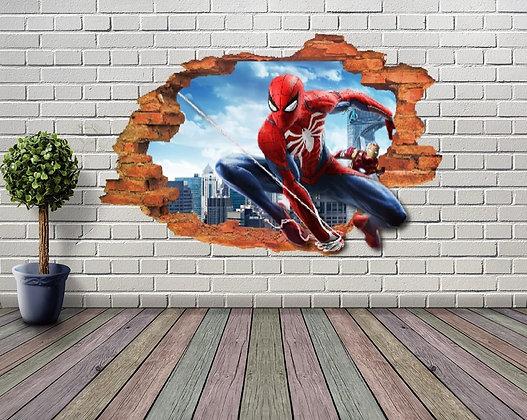 ADESIVOS DE PAREDE SPIDER MAN 3D