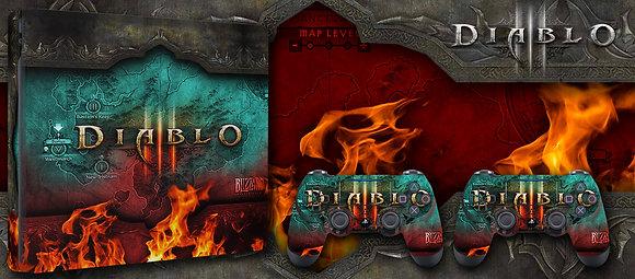 SKIN PS4 DIABLO 3 ON FIRE EDITION
