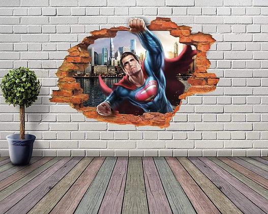 ADESIVOS DE PAREDE 3D SUPERMAN