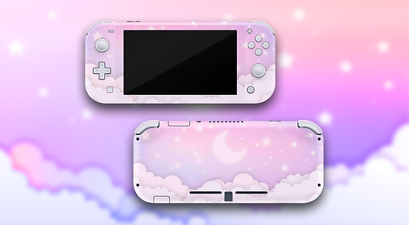 SKIN Nintendo Switch FAT/Lite Pink and Blue
