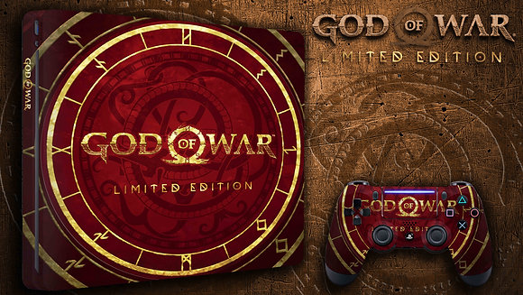 SKIN PS4 GOW LIMITED RED