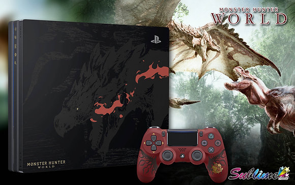 SKIN PS4 FAT MONSTER HUNTER WORLD