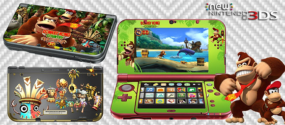 SKIN NEW 3DS XL DONKEY KONG