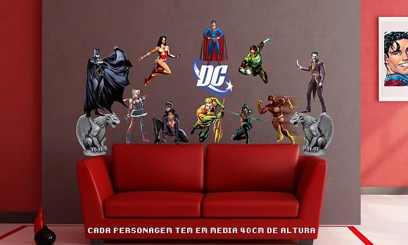 ADESIVOS DE PAREDE DC COMICS