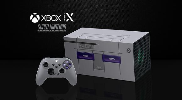 SKIN XBOX SERIES X SNES RETRO EDITION