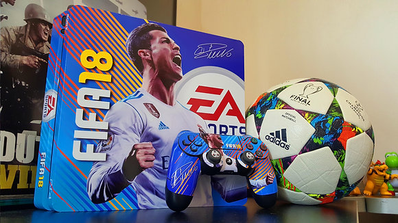 SKIN PS4 SLIM FIFA 18 SIGNATURE EDITION CR7