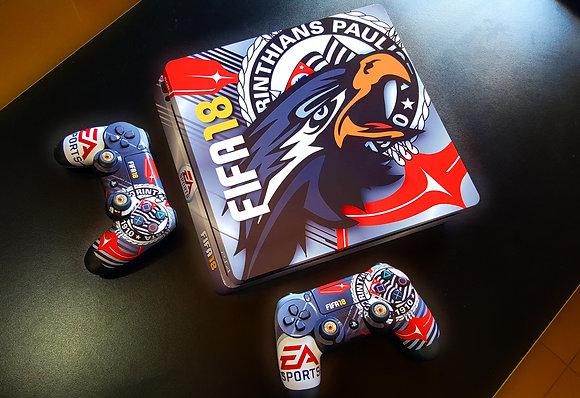 SKIN PS4 SLIM FIFA 18 MASCOT EDITION