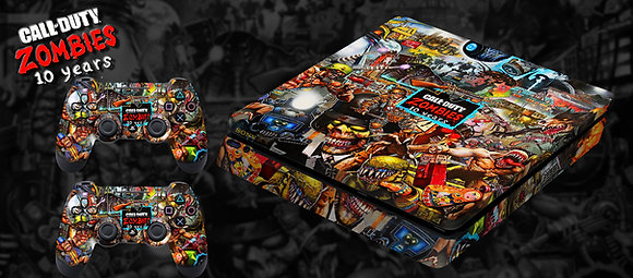 SKIN PS4 COD ZOMBIES 10 ANOS