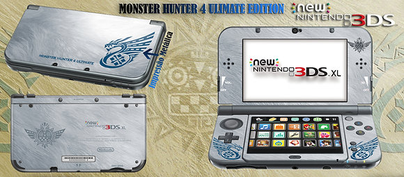 SKIN 3DS XL MONSTER HUNTER 4 ULTIMATE EDITION