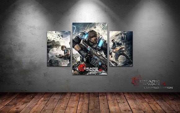 QUADRO TRIPLO GEARS OF WAR 4