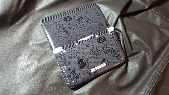 SKIN NEW 3DS XL MARIO BLACK