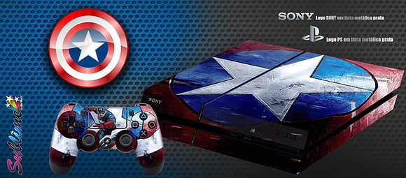 SKIN PS4 CAPTAIN AMERICA SHIELD