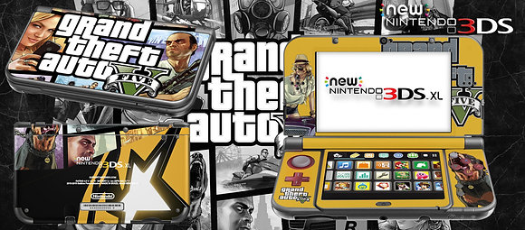 SKIN NEW 3DS XL GTA EDITION