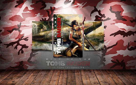 QUADRO TRIPLO TOMB RAIDER 20TH