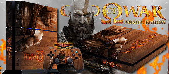 SKIN PS4 GOD OF WAR NORDIC EDITION