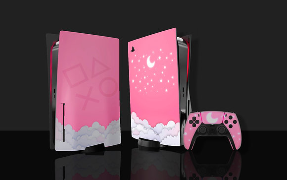 Skin PS5 Pink Star