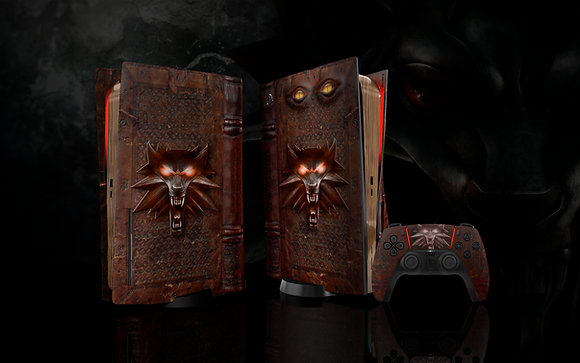 Skin PS5 The Witcher Grimoire of Death