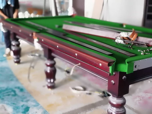 10ft Snooker Table with Steel Block Cushion