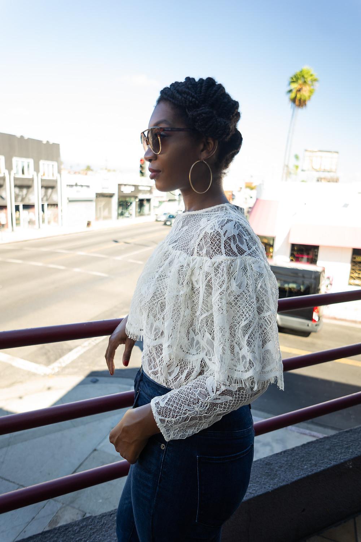 Romantic Lace Ruffle Blouse