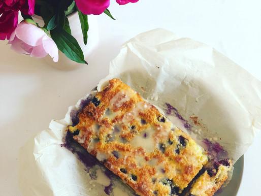 Low carb lemon blueberry crumb cake