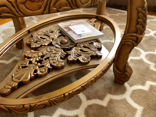 Bronze/Gold Vintage-Inspired Coffee Table - Today's Friday Fav!