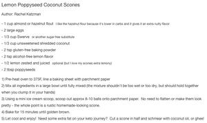 Lemon Poppyseed Coconut Scones