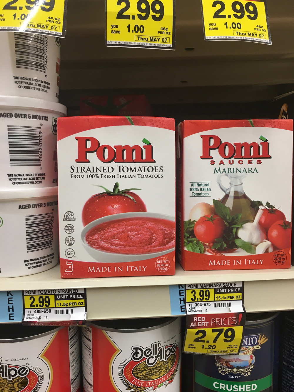 Can't go wrong with Pomi strained tomatoes!