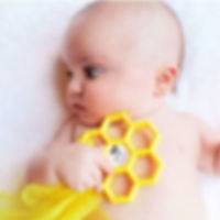 Honeycomb Bee Happy Teether!_._Our littl