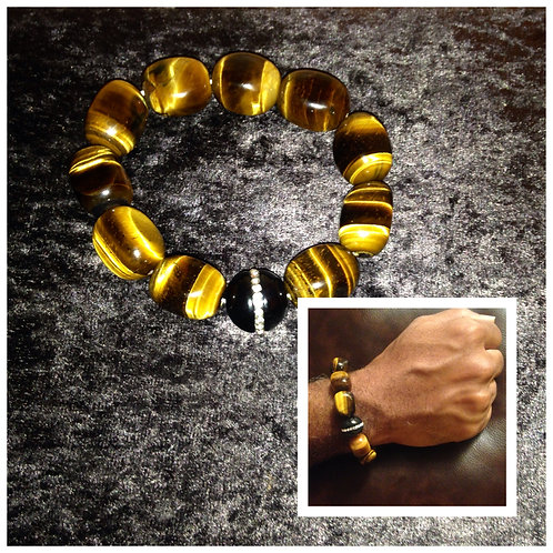 Mens Tiger Eye Bracelet