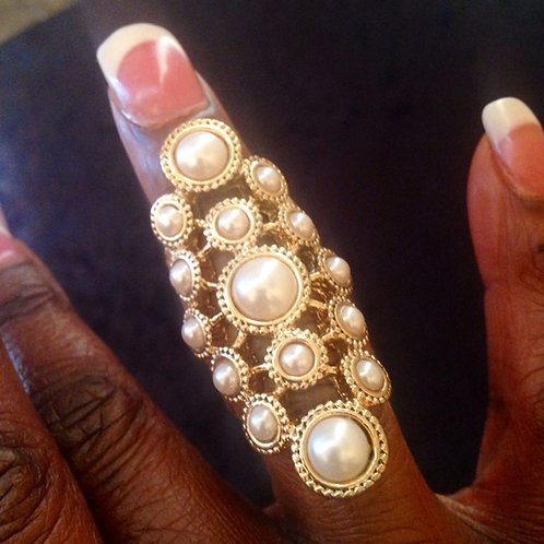 Pearl and Gold  Ring