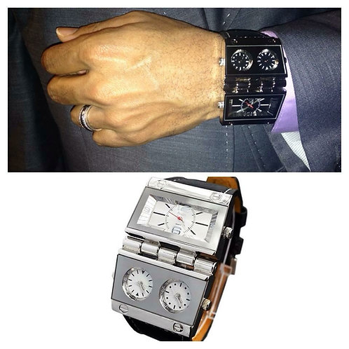 Mens 3 Time zone Watch