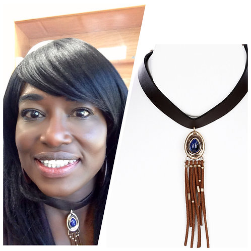 Leather & Tassel Necklace
