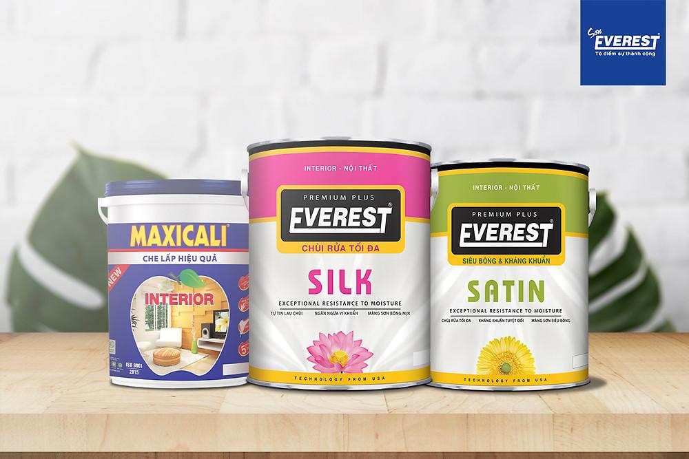 Đây là một số loại sơn nội thất của sơn Everest