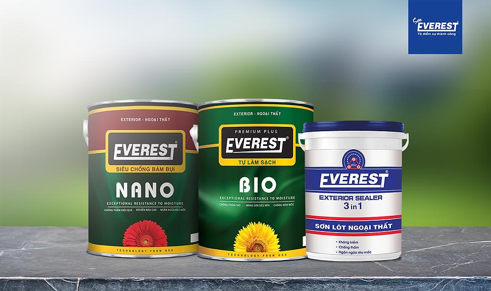 Một số loại sơn Ngoại thất của Sơn Everest